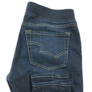 Big Star Dark Wash Pull On Skinny Jeans